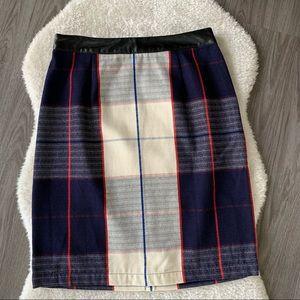 Merona Plaid Cotton Skirt Size 6